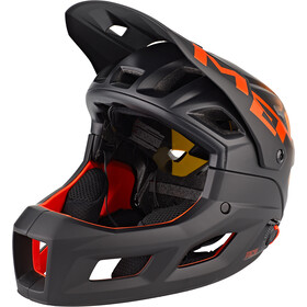 MET Parachute MCR MIPS Casque, black orange matt